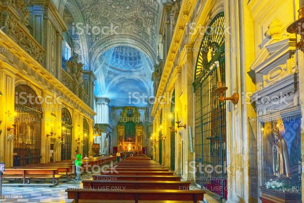 Katedrali, Saint Mary içinde bkz, Seville Katedrali tahmin. İspanya. - Royalty-free Antik Stok görsel