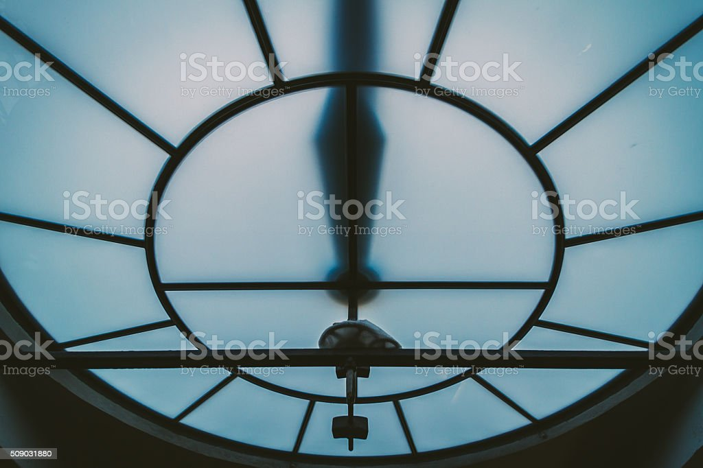 Inside clock tower stock photo