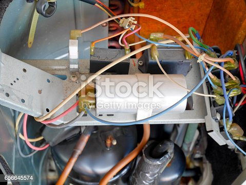 871063730istockphoto Inside condenser unit for air conditioning 656645574