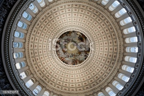 Washington DC capitol dome interior rotunda, place of the House of Representatives and Senate.    Check out my