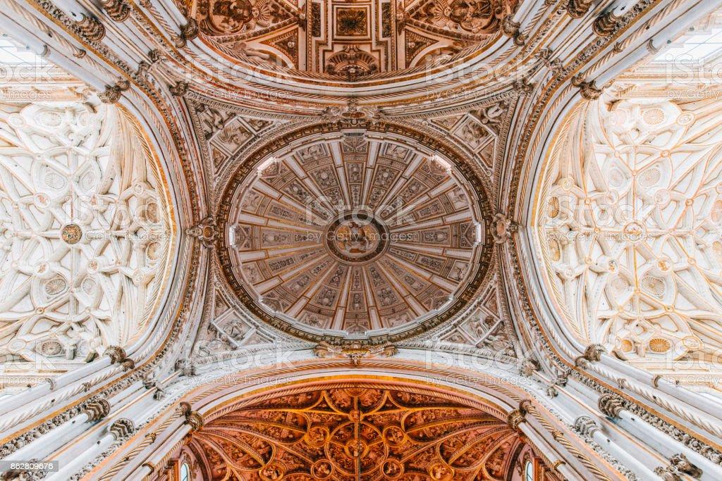 Inside Cordoba Cathedral stock photo