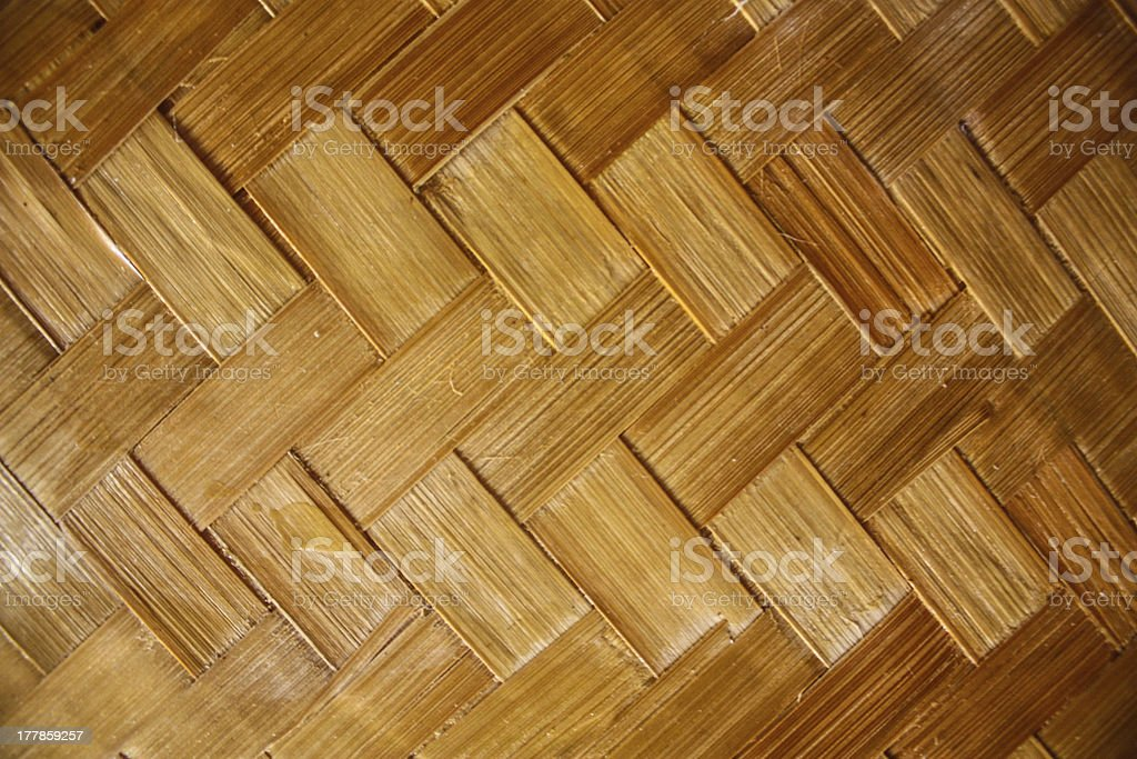 Inside cottage bamboo weave royalty-free stock photo