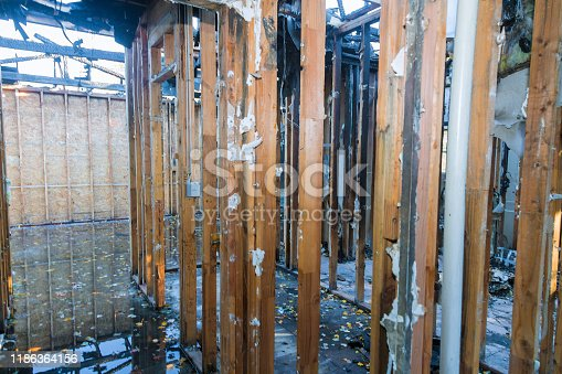 1015604978 istock photo Inside detail of an home that was after a house fire. 1186364156