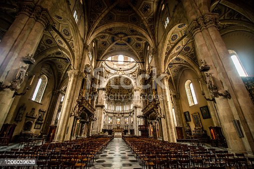 Inside Duomo Di Como, Italy