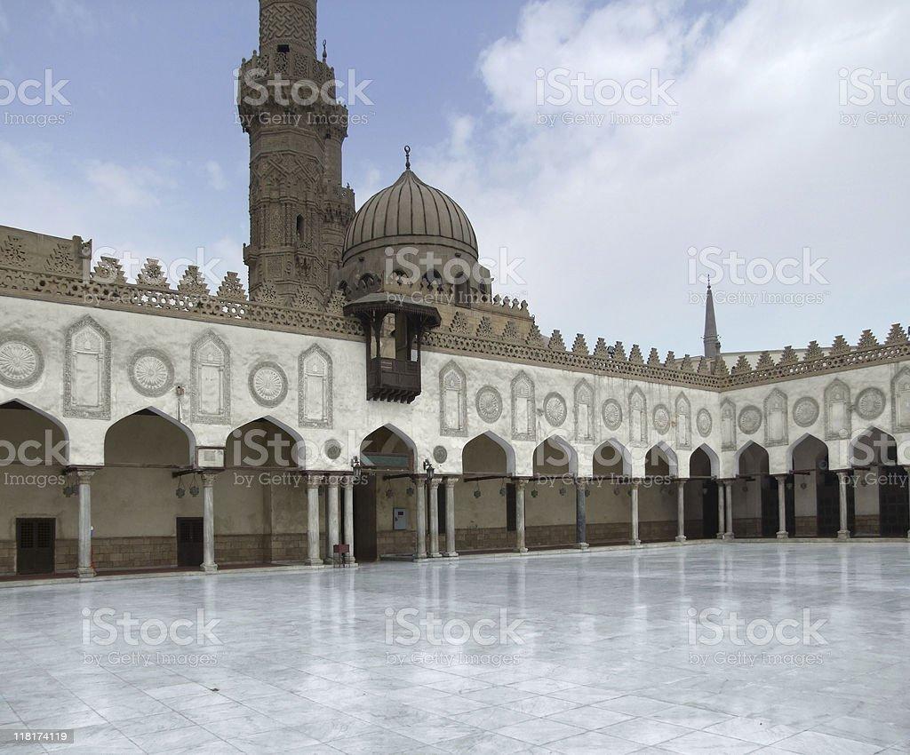 inside El Azhar Mosque royalty-free stock photo