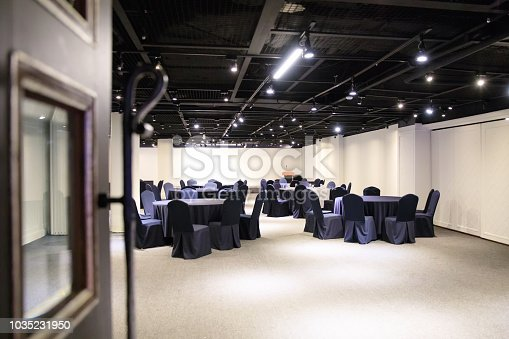 847512708 istock photo Inside empty conference hall 1035231950