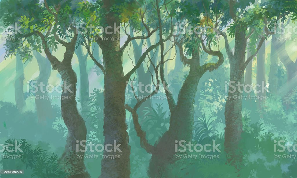 inside forest royalty-free stock photo