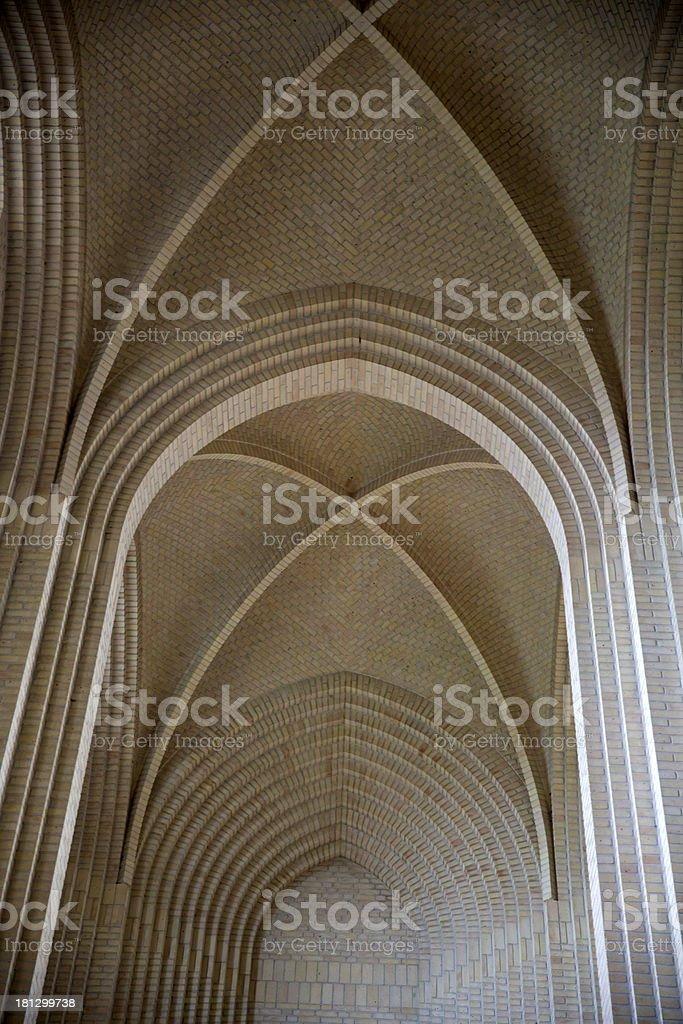 Inside Grundtvig Church, Copenhagen, Denmark royalty-free stock photo