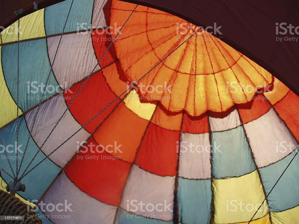 Inside Heated Hot Air Balloon stock photo