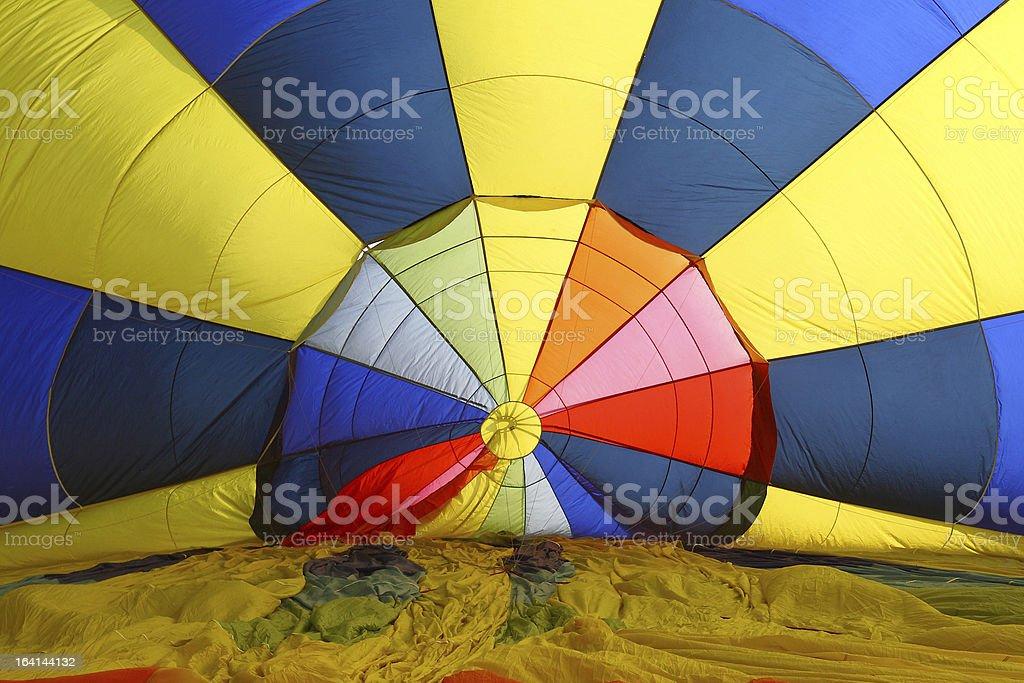 Inside Hot Air Balloon royalty-free stock photo