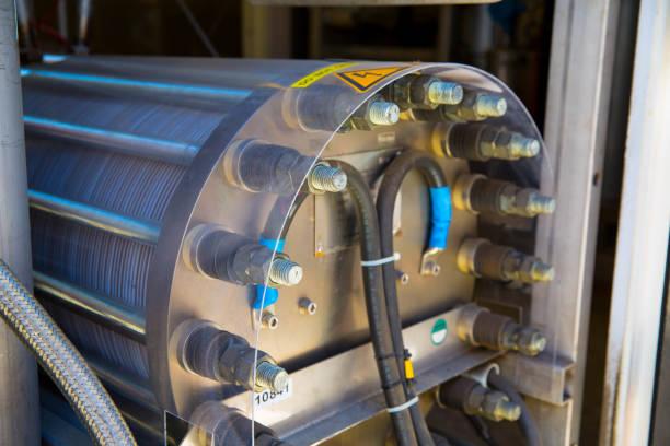 binnenkant waterstof vul station - waterstof stockfoto's en -beelden