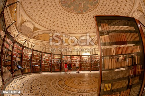 Washington DC: Inside in one room of the Library of Congress. It is the research library officially serving the US Congress and the national library of the USA.