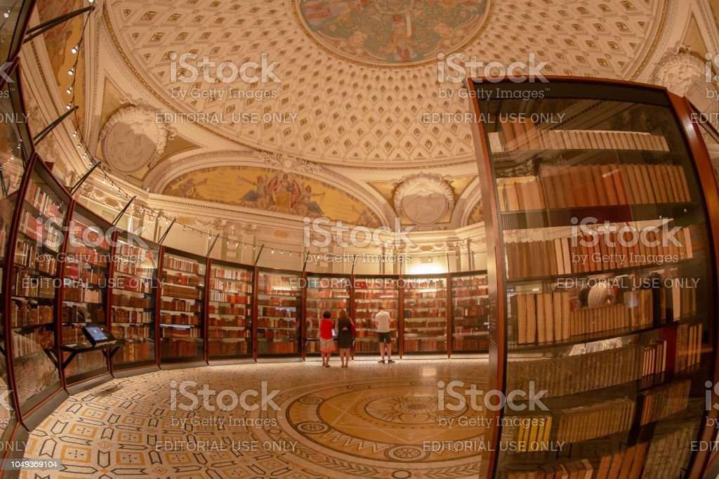 Inside in one room of the Library of American Congress stock photo