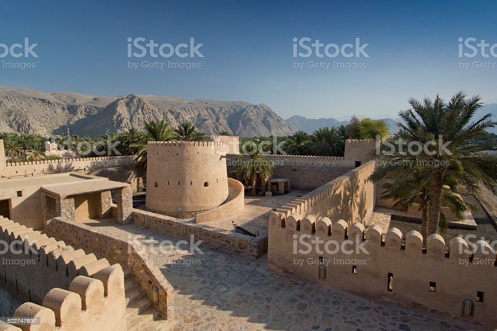 Inside Khasab castle, Musandam, Oman - Royalty-free Ancient Civilization Stock Photo