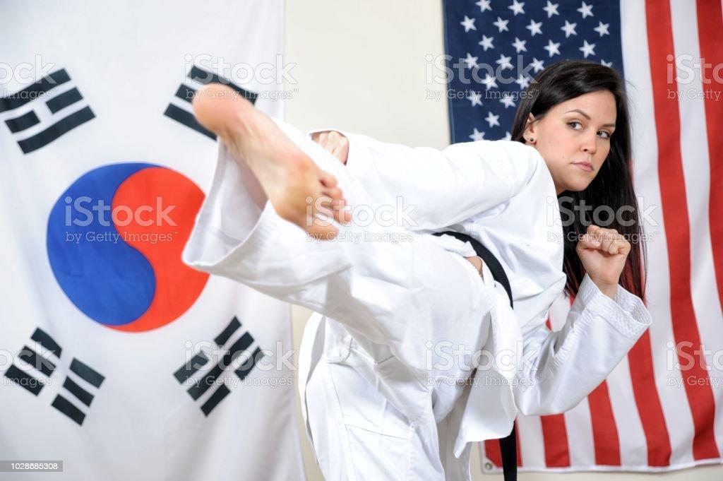 Inside Korean Karate stock photo
