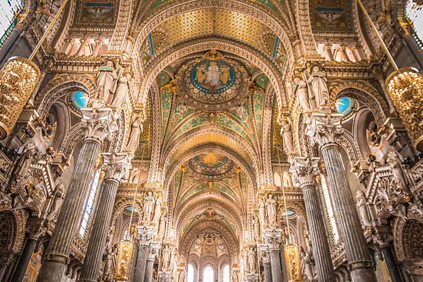 Inside La Basilique Notre Dame de Fourviere in Lyon - Photo