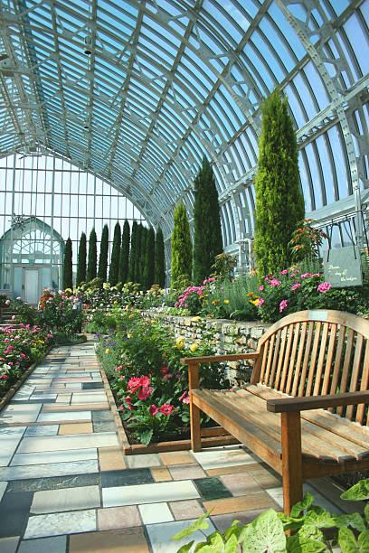 Inside Marjorie McNeely Conservatory, Saint Paul  stock photo