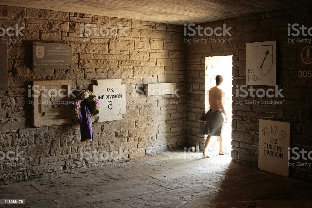 Inside Mausoleum: German Military Cemetery in Italy stock photo