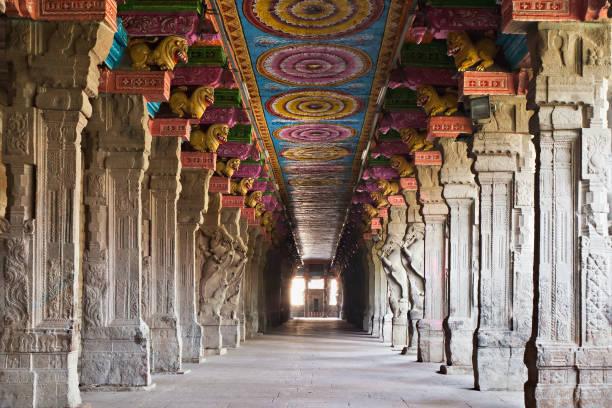 inside meenakshi tempel - mumbai stockfoto's en -beelden