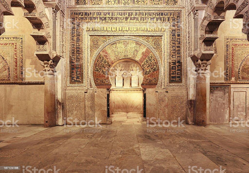 Inside Mezquita de Cordoba, Spain stock photo