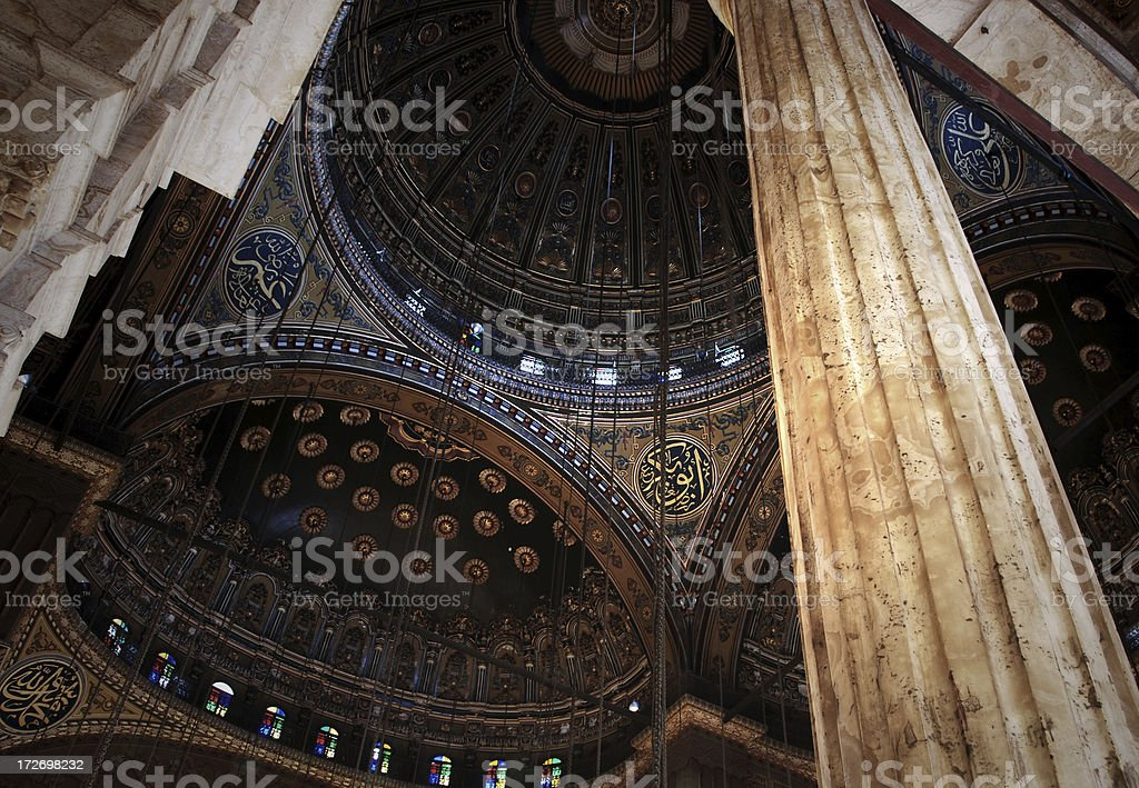 Inside Mohammed Ali mosque royalty-free stock photo