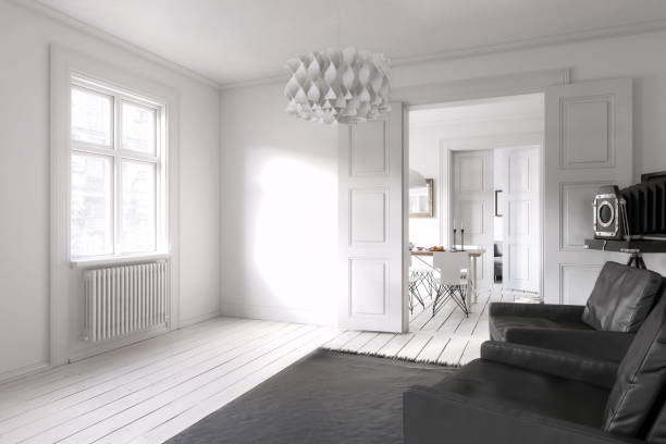 in meiner wohnung (design) - flügeltür wohnzimmer stock-fotos und bilder