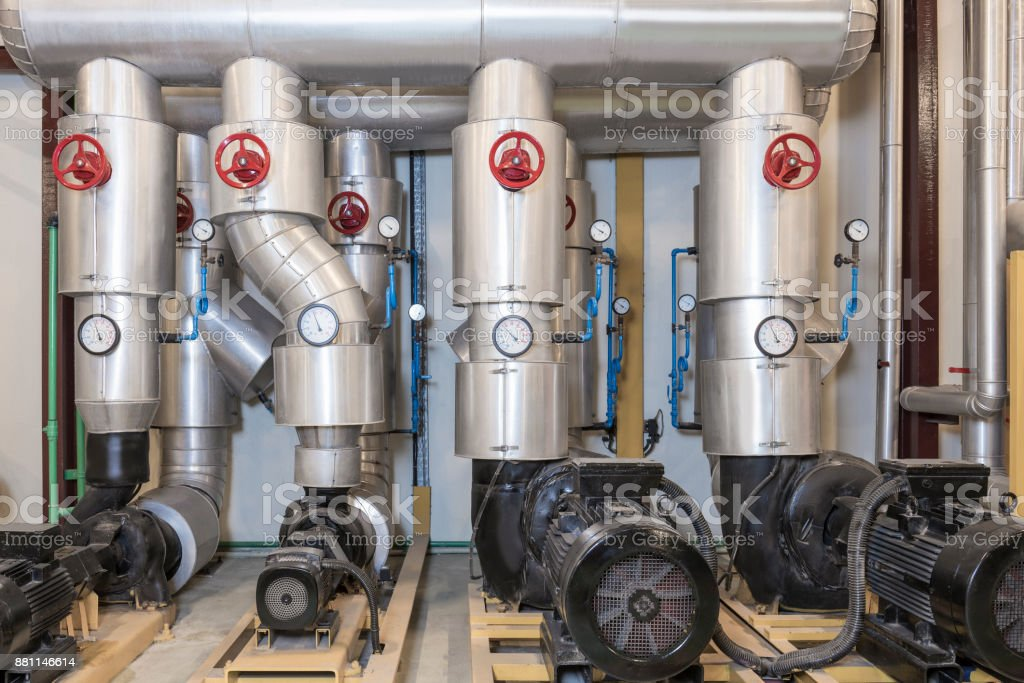 Inside Of A Boiler Room System Stock Photo & More Pictures of ...