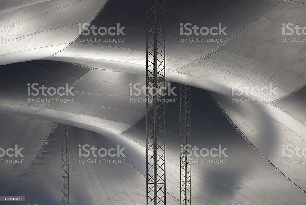 Inside of a Circus Tent stock photo