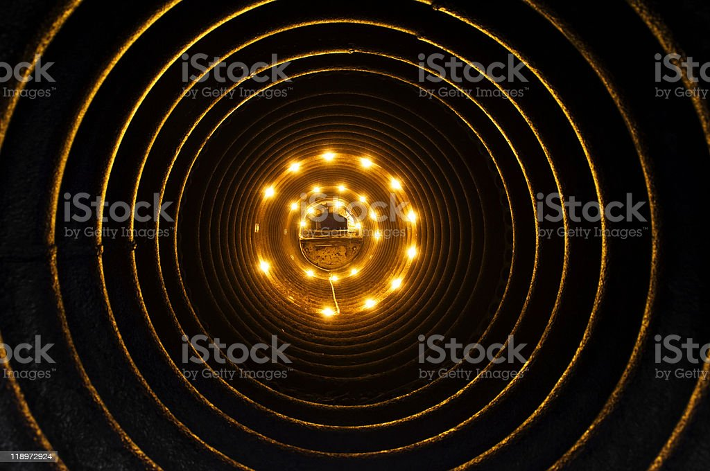 Inside of a pipe royalty-free stock photo