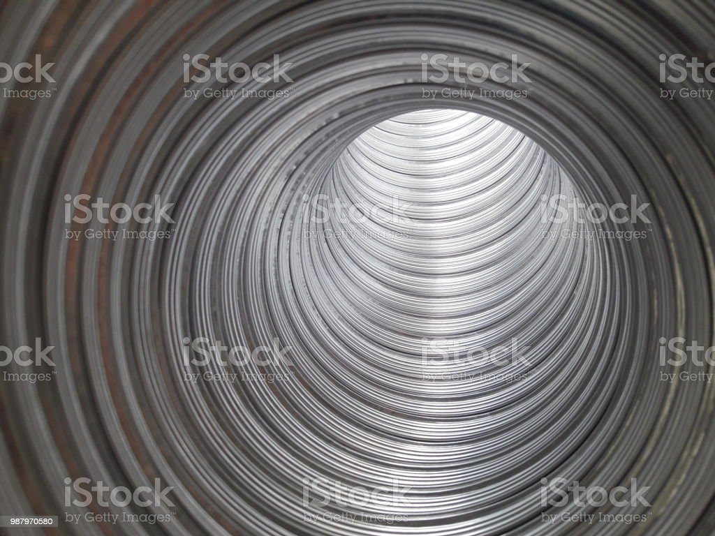 inside of a pipe stock photo
