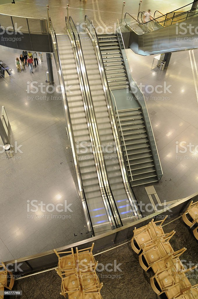 Inside of Airport Unique Zurich, Switzerland royalty-free stock photo