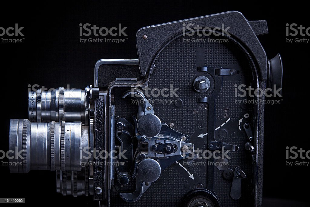 Inside of an 8mm Home Movie Camera stock photo