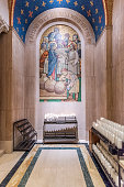 Inside of Basilica National Shrine of the Immaculate Conception in Washington DC, USA.
