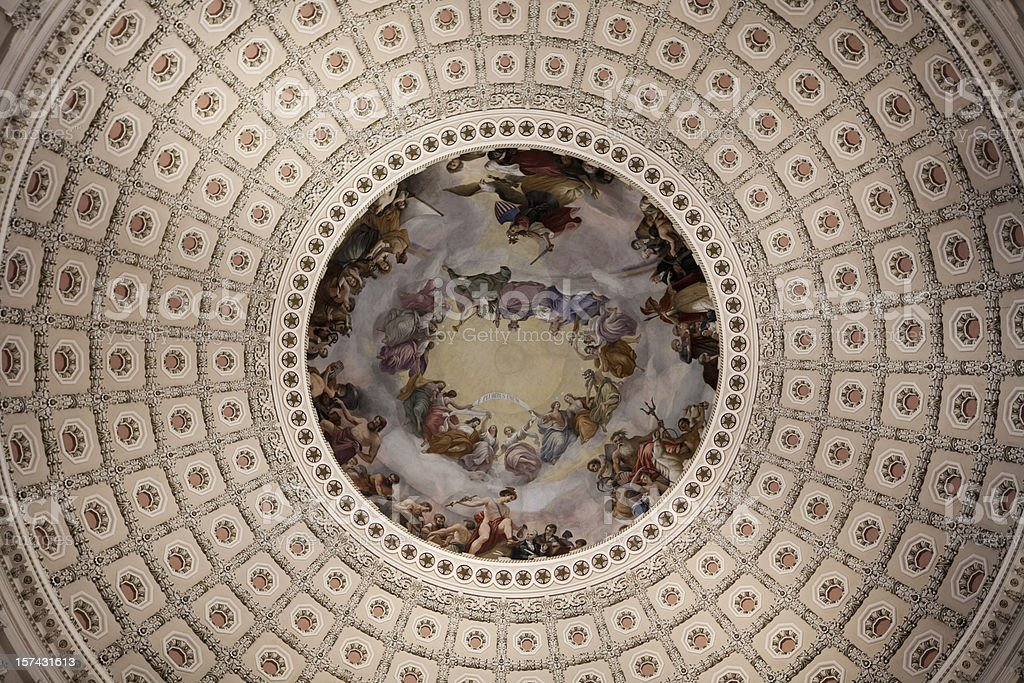 Inside of Capitol Dome, Senate in Washington DC stock photo