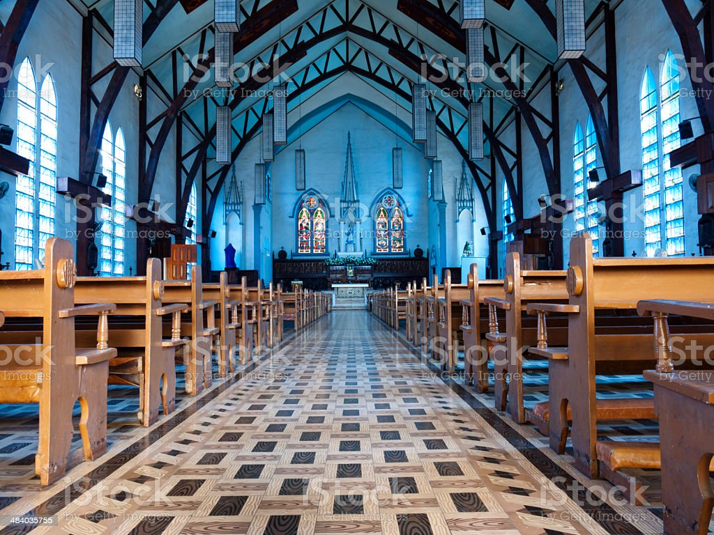 inside of church royalty-free stock photo