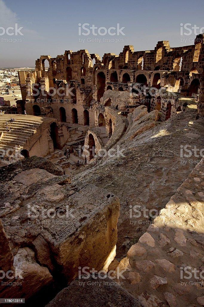 inside of coliseum stock photo