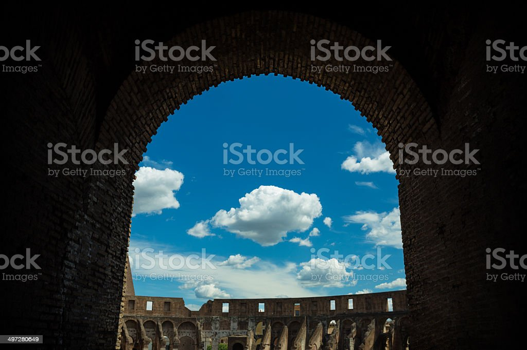 Inside of Colosseum royalty-free stock photo