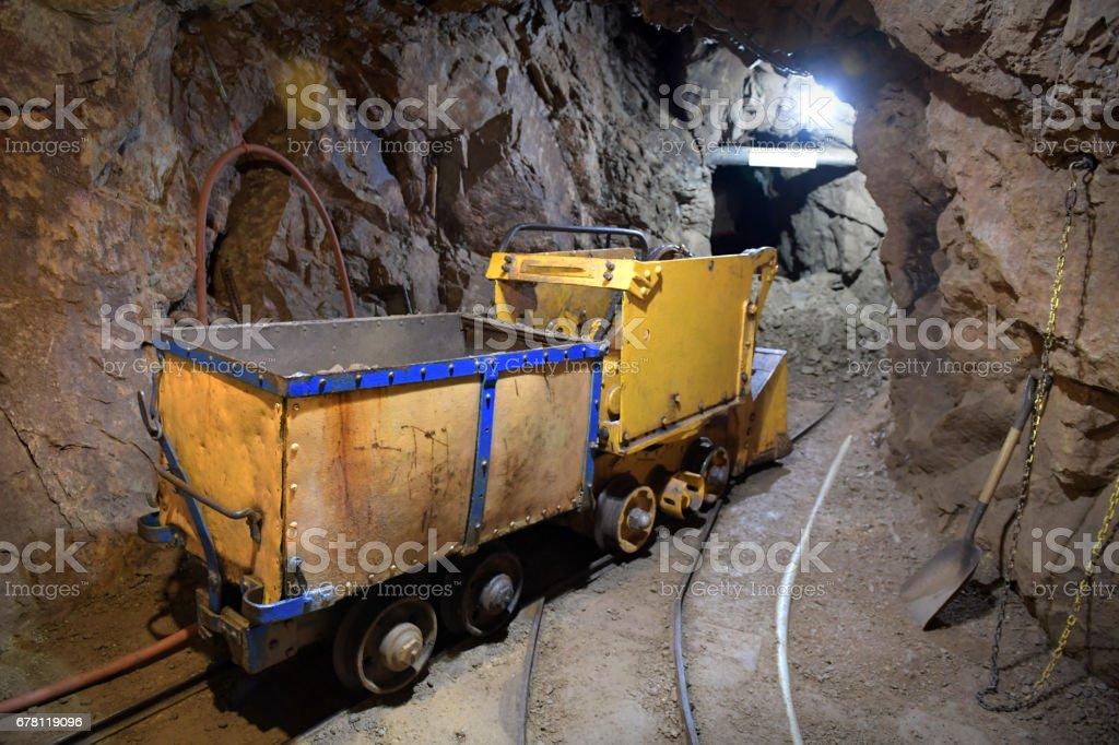 Inside of gold mine in Colorado