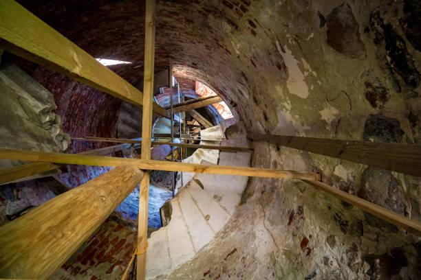 Inside of lighthouse stock photo