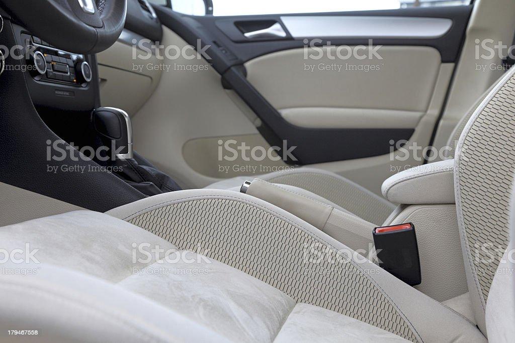 Inside of luxury car. stock photo