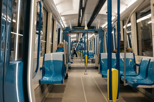 Inside of new metro cars of Montréal