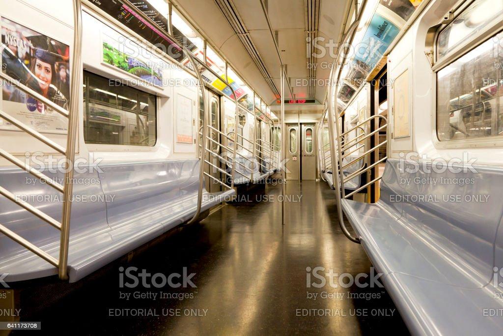 Inside of New York Subway stock photo