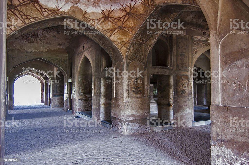 Inside of Queen Noor-e-Jehan's Masuoleum , Lahore stock photo