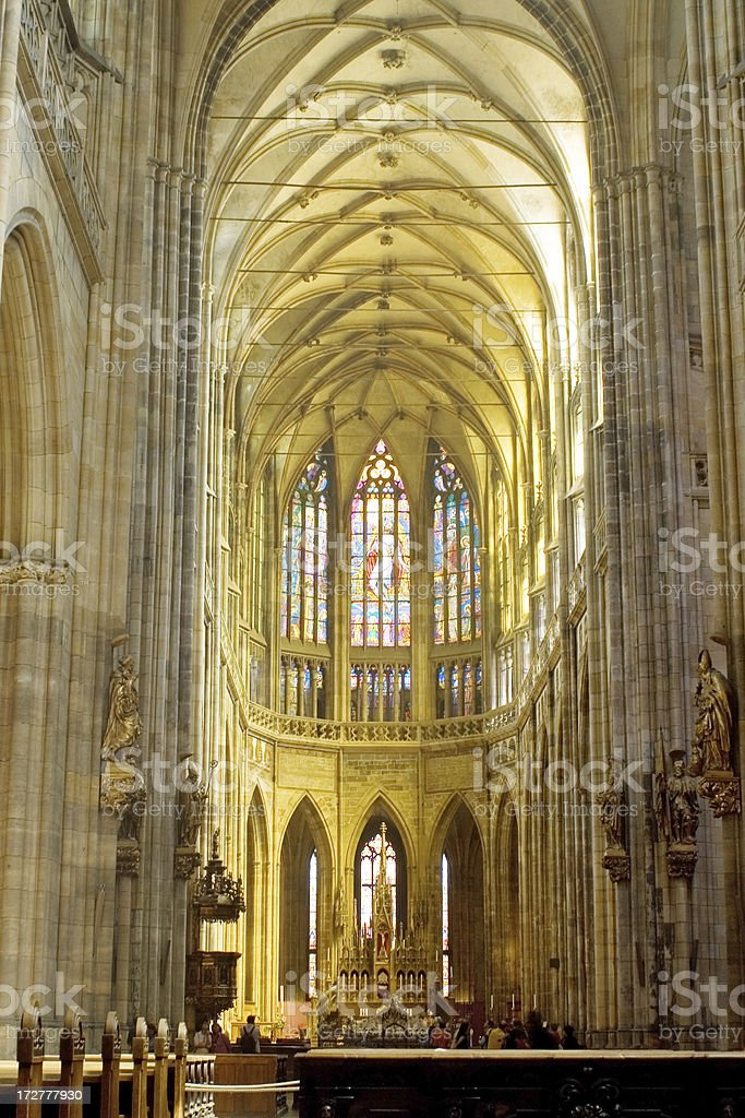 \'A Gothic cathedral, the spiritual symbol of the Czech state, founded...