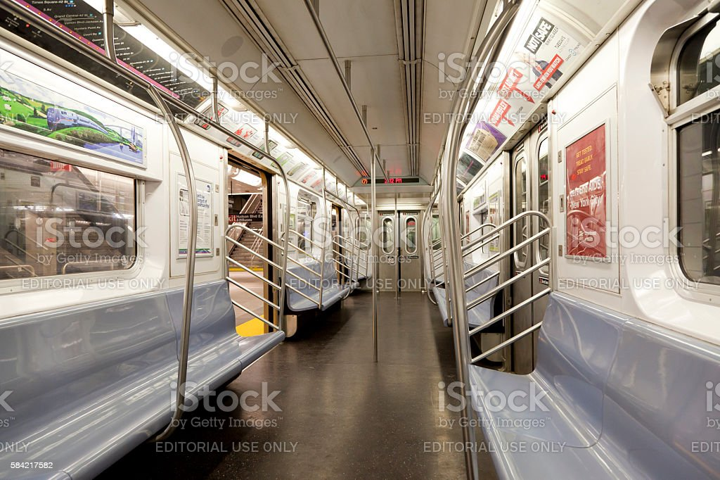 Inside of Subway in New York stock photo