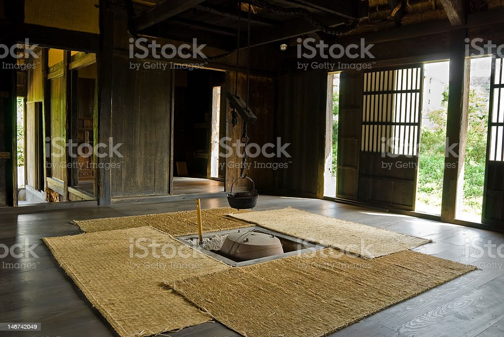 Inside of thatched farmhouse.