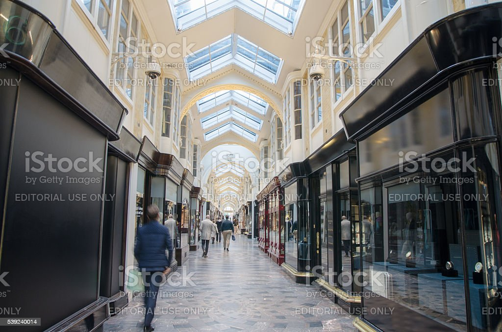 Inside of the Burlington Arcade Shopping Mall royalty-free stock photo