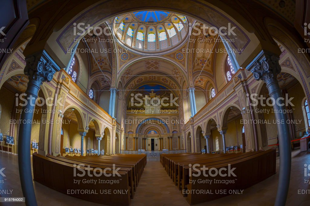 Inside of the Neolog Synagogue Zion. Built between 1877-1878 in...