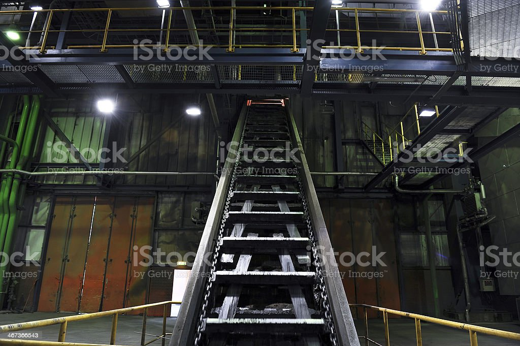 Inside of the power plant stock photo