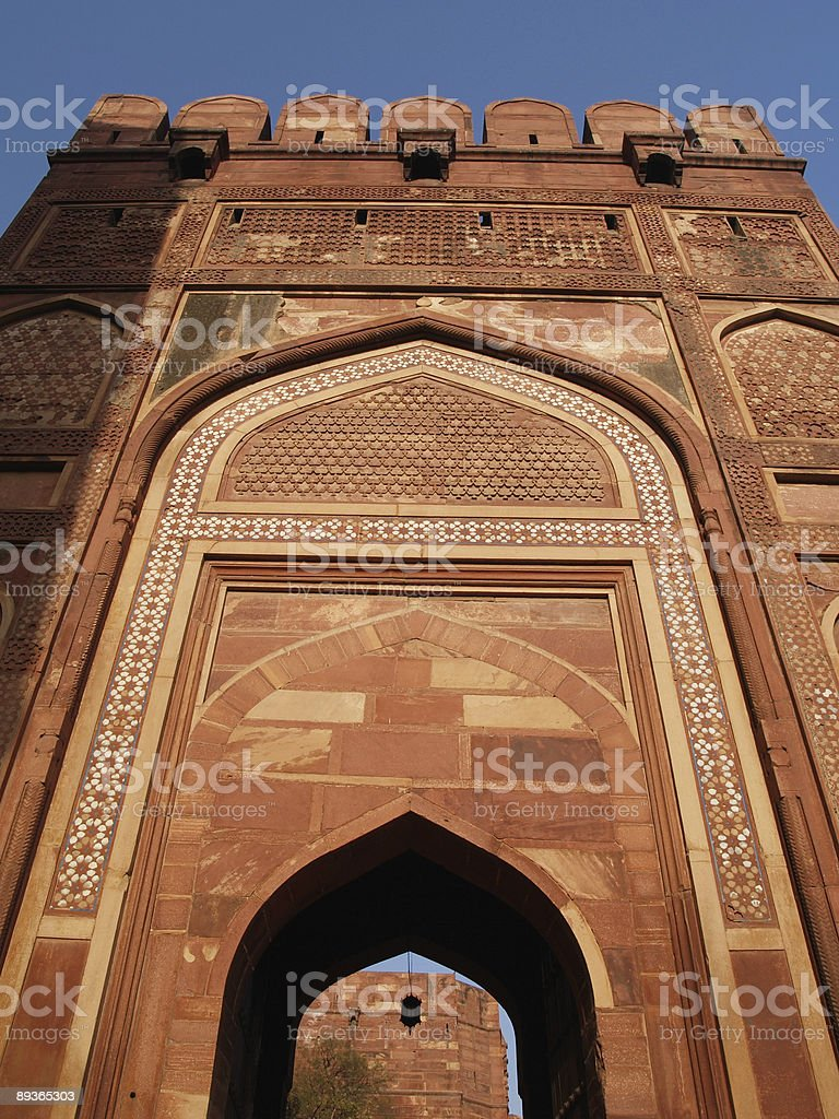 Inside of the Red Fort in Agra, India royalty-free stock photo